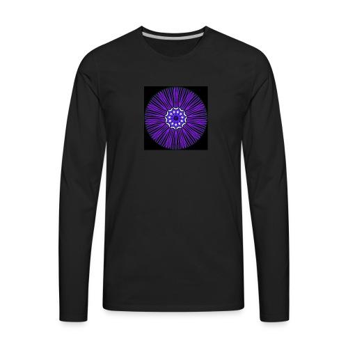 Feathery purple mandala - Men's Premium Long Sleeve T-Shirt