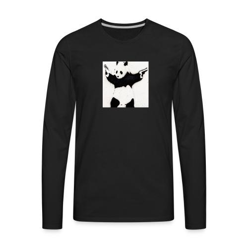 Double pistol panda's logo picture - Men's Premium Long Sleeve T-Shirt