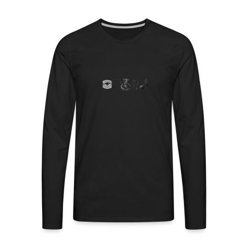 Money and Music - Men's Premium Long Sleeve T-Shirt