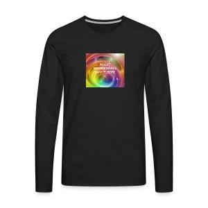 Insert rainbow here - Men's Premium Long Sleeve T-Shirt