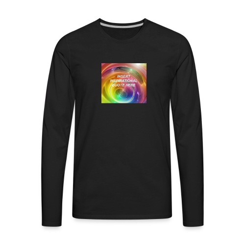 Insert rainbow here - Men's Premium Long Sleeve T-Shirt
