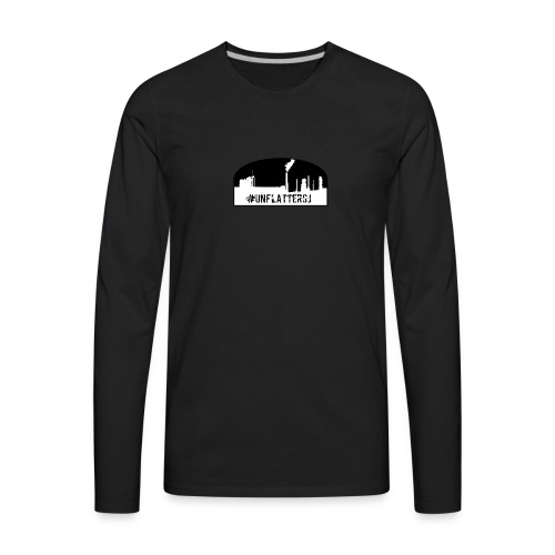 Unflatter Hashtag logo - Men's Premium Long Sleeve T-Shirt