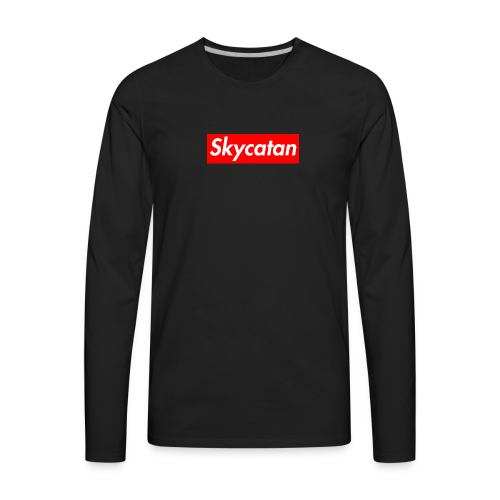 Limited Edition Supreme SkyCatan Logo - Men's Premium Long Sleeve T-Shirt