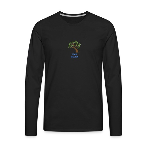 Team Million Logo - Men's Premium Long Sleeve T-Shirt