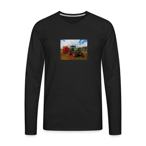 Tractor on a farm! - Men's Premium Long Sleeve T-Shirt