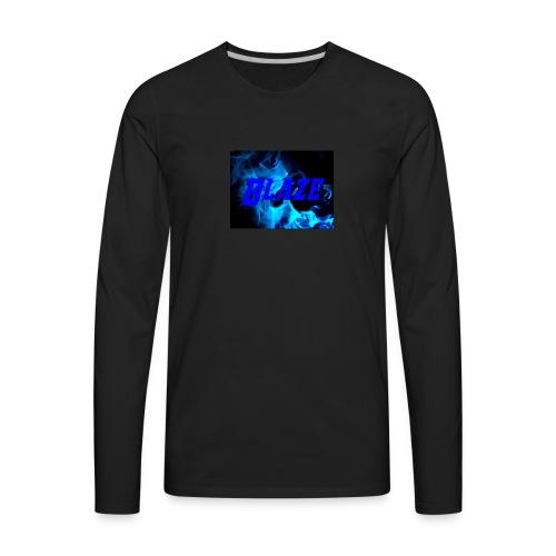 Blue Fire - Men's Premium Long Sleeve T-Shirt