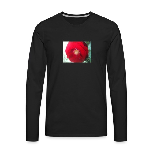The red flower - Men's Premium Long Sleeve T-Shirt