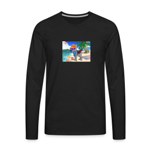 Puppygaming old YouTube backround items - Men's Premium Long Sleeve T-Shirt