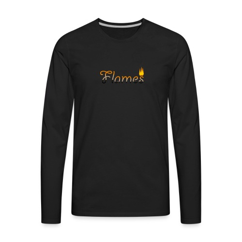 Flames - Men's Premium Long Sleeve T-Shirt