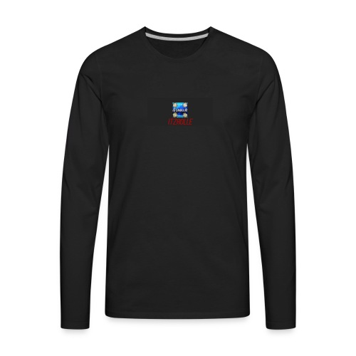 ItzRollie black, blue, and red. - Men's Premium Long Sleeve T-Shirt