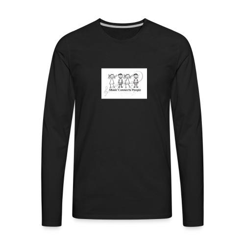 Music Connects People Shirt - Men's Premium Long Sleeve T-Shirt