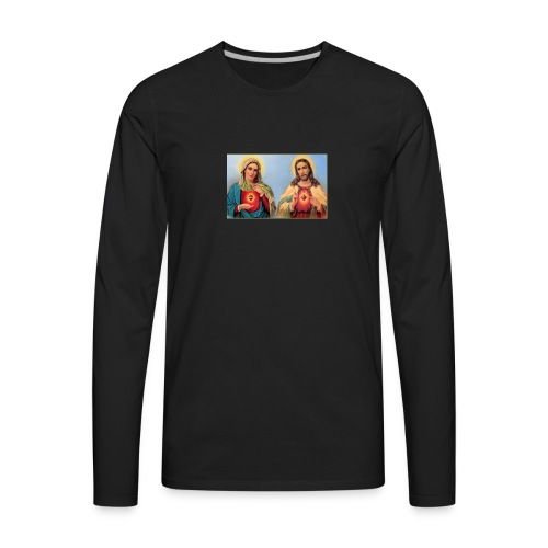Sacred Heart Jesus and Mary - Men's Premium Long Sleeve T-Shirt