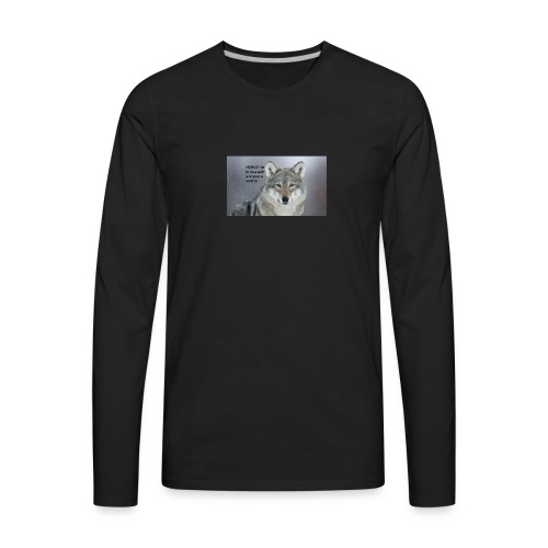 wolf merch - Men's Premium Long Sleeve T-Shirt