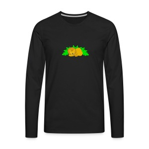 Sleeping Lion - Men's Premium Long Sleeve T-Shirt
