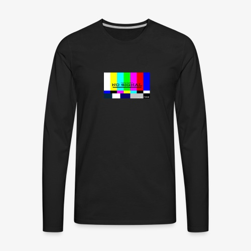 NO SIGNL (classic black) - Men's Premium Long Sleeve T-Shirt