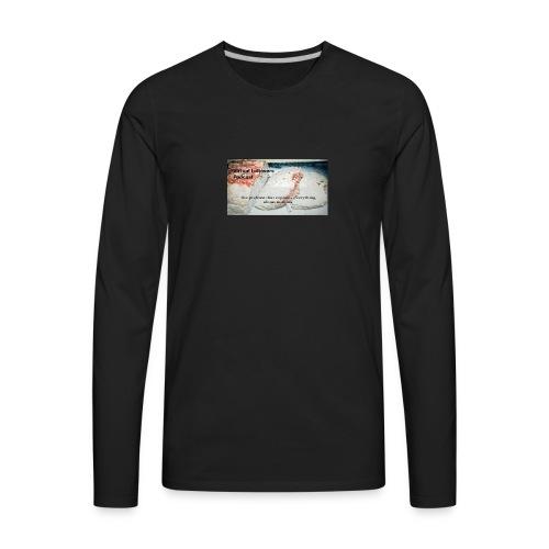 Virtual Leftover Podcast Meatloaf logo - Men's Premium Long Sleeve T-Shirt