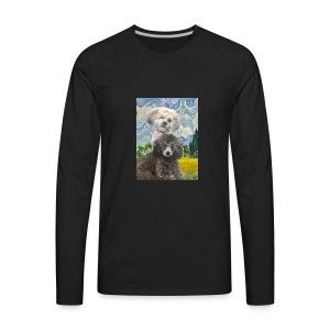 Morty and Wonton - Dogs of Modern Art - Men's Premium Long Sleeve T-Shirt