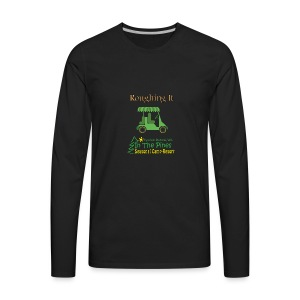 Roughing It With Golf Cart - Men's Premium Long Sleeve T-Shirt