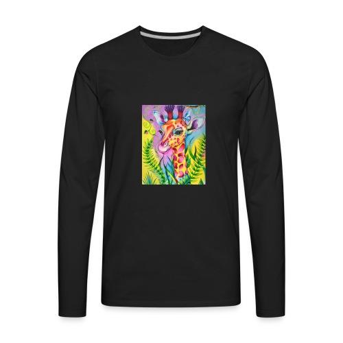 Spring Giraffe Hoodie - Men's Premium Long Sleeve T-Shirt