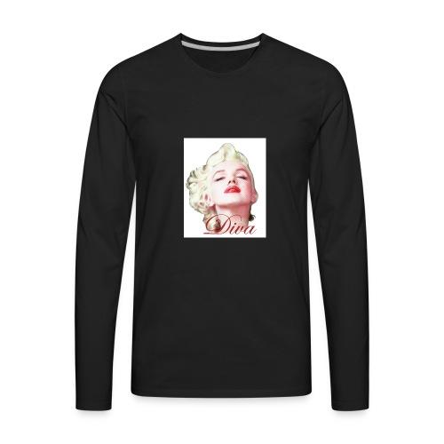 Marilyn Diva - Men's Premium Long Sleeve T-Shirt