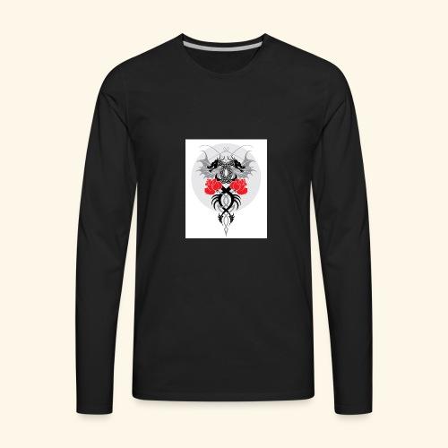 Dragons and Roses - Men's Premium Long Sleeve T-Shirt