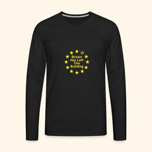 Britain Has Left The Building 16 - Men's Premium Long Sleeve T-Shirt