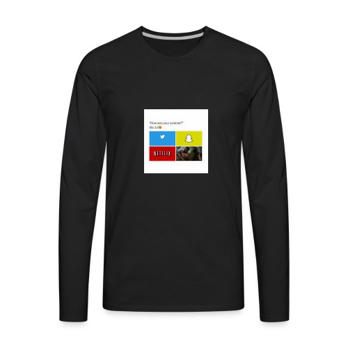 First shirt - Men's Premium Long Sleeve T-Shirt