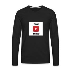 Typical YouTuber Logo - Men's Premium Long Sleeve T-Shirt