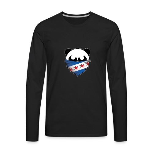 EDMPanda Logo - Men's Premium Long Sleeve T-Shirt