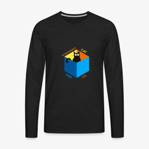 Schrodinger's Cat Lives - Men's Premium Long Sleeve T-Shirt