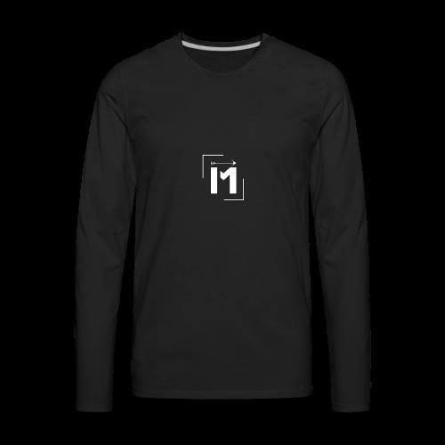 MADE white BrstPKT emblem - Men's Premium Long Sleeve T-Shirt