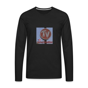 Retro Neon Motel Sign - Men's Premium Long Sleeve T-Shirt