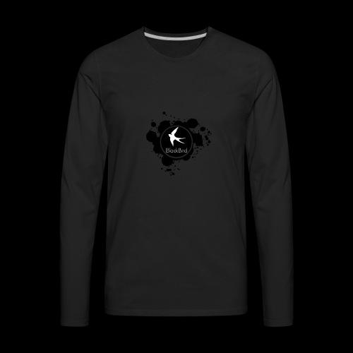 BlackBird Ink Spill Logo - Men's Premium Long Sleeve T-Shirt