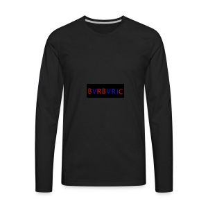 Red and blue Montage - Men's Premium Long Sleeve T-Shirt