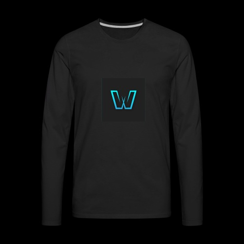 DoubleU Black Non-Transparent - Men's Premium Long Sleeve T-Shirt