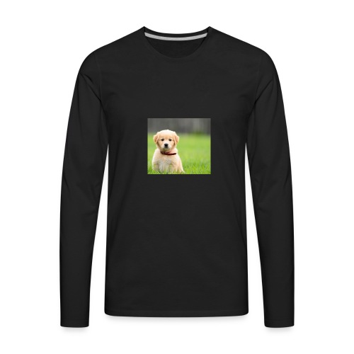 Cute puppy Clothing dogs pets cute fur happy - Men's Premium Long Sleeve T-Shirt