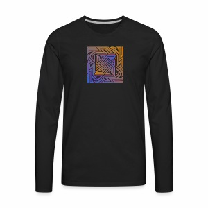Blue\orange Matrix - Men's Premium Long Sleeve T-Shirt