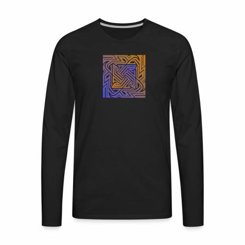 Blue\orange Matrix - Men's Premium Long Sleeve T-Shirt