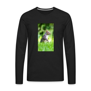 Squirrels don't play games - Men's Premium Long Sleeve T-Shirt