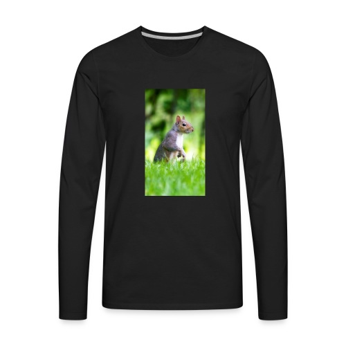 Squirrels don't play games - Men's Premium Long Sleeve T-Shirt