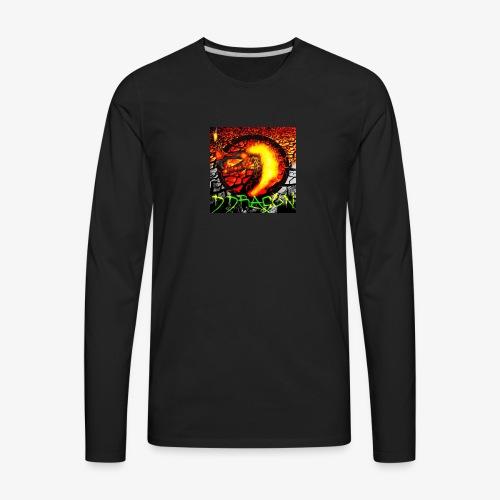 Damian Dragon Logo - Men's Premium Long Sleeve T-Shirt