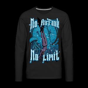 No Air Tank No Limit Freediving merchandise - Men's Premium Long Sleeve T-Shirt