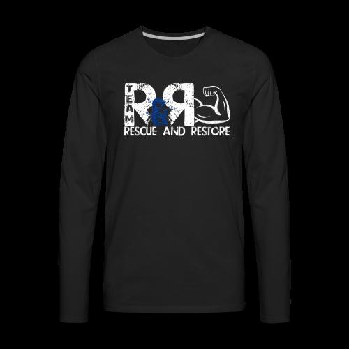 Team Rescue & Restore Blue Logo - Men's Premium Long Sleeve T-Shirt