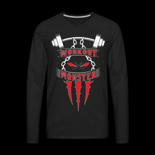 Workout Monster - Men's Premium Long Sleeve T-Shirt