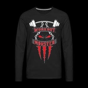 Workout Monster - Men's Premium Long Sleeve T-Shirt