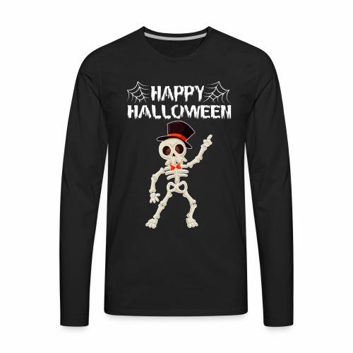 Happy Halloween T-shirt Skeleton Dance - Men's Premium Long Sleeve T-Shirt