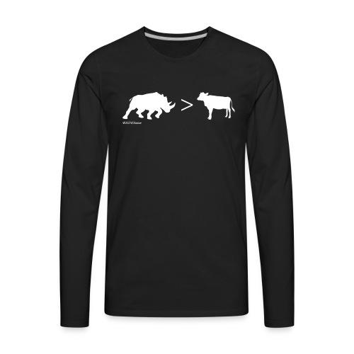 RhinoGTCow WhiteTransperant - Men's Premium Long Sleeve T-Shirt