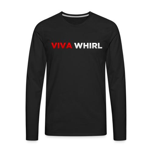 Viva Whirl Logo - Men's Premium Long Sleeve T-Shirt