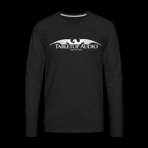 Tabletop Audio: Logo White - Men's Premium Long Sleeve T-Shirt