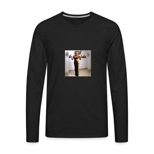 Ankara print tan top - Men's Premium Long Sleeve T-Shirt